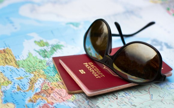 Travel concept, two passports