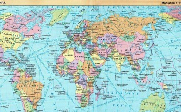 Карты мира из разных стран 1