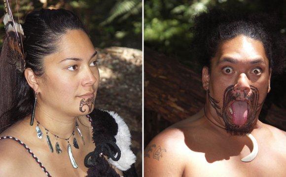 женщина и мужчина маори (Новая