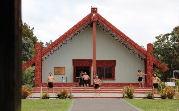 танец хака. Новая Зеландия