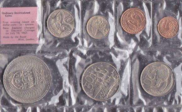 Набор Новая Зеландия 7 монет