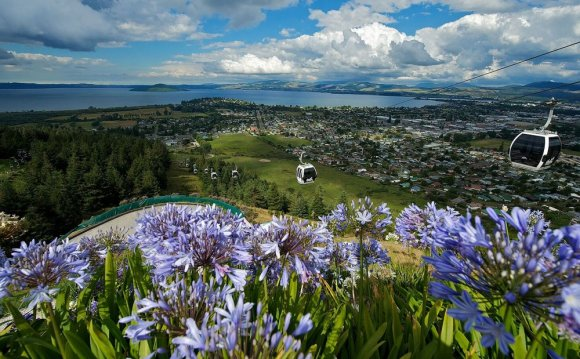 Rotorua, a town on New
