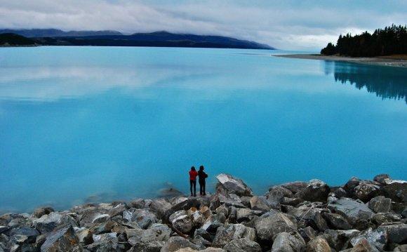 озеро Пукаки Новая Зеландия